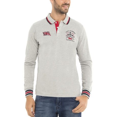 Boat Race LS Polo Shirt // Gray Melange (XS)