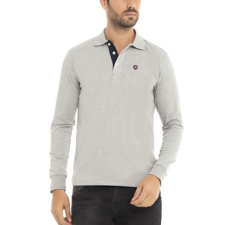 Logo Long Sleeve Polo Shirt // Gray Melange (XS)
