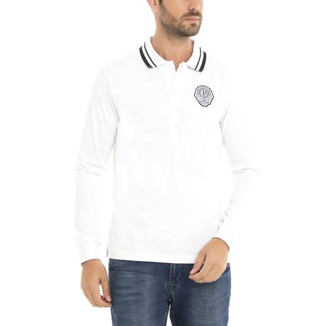 Long Sleeve Polo Shirt // White (XS)