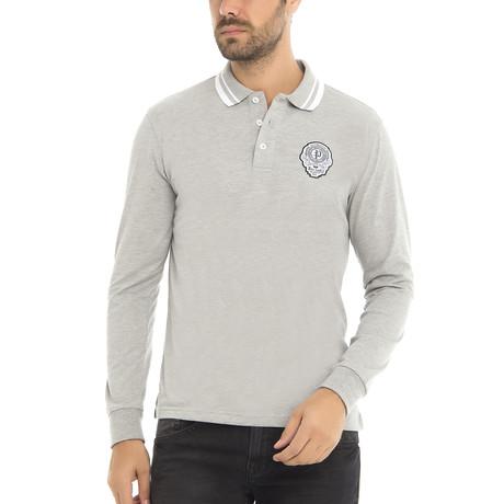 Long Sleeve Polo Shirt // Gray Melange (XS)