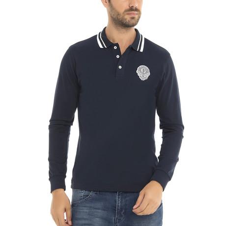 Paul Parker Long Sleeve Polo Shirt // Navy (XS)