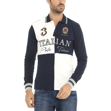 Polo Team LS Polo Shirt // Navy (XS)