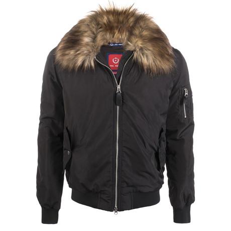 Fur Lined Winter Coat // Black (XS)