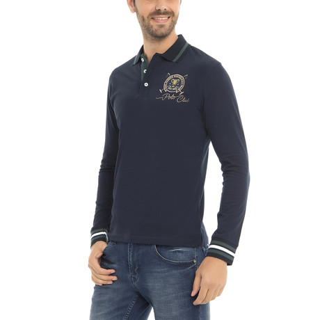 Polo Club LS Polo Shirt // Navy (XS)