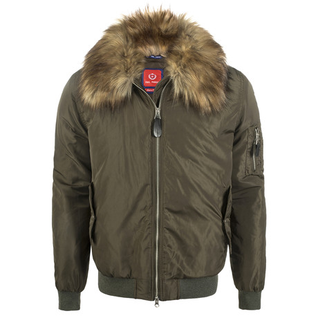Fur Linned Winter Coat // Khaki (XS)