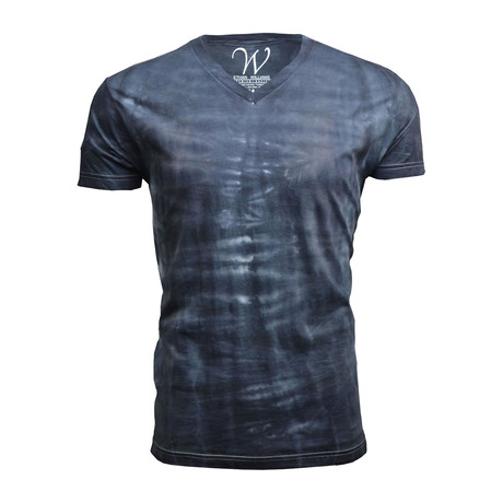 Ultra Soft Hand Dyed V-Neck // Black Cloud (S)
