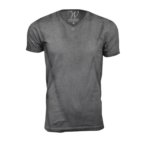 Ultra Soft Hand Dyed V-Neck // Gray (S)