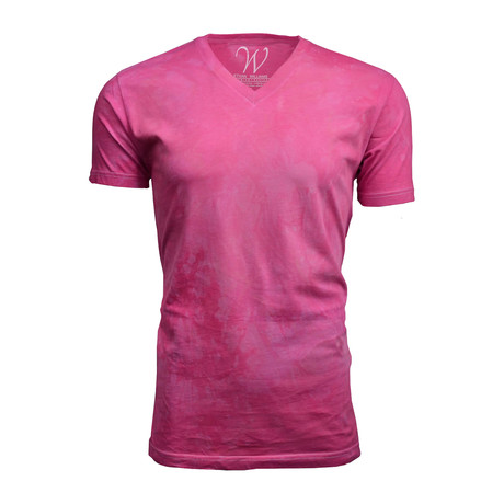 Ultra Soft Hand Dyed V-Neck // Bubble Gum