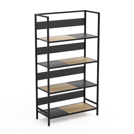 Doheny 4-Tier Folding Shelf (Black)