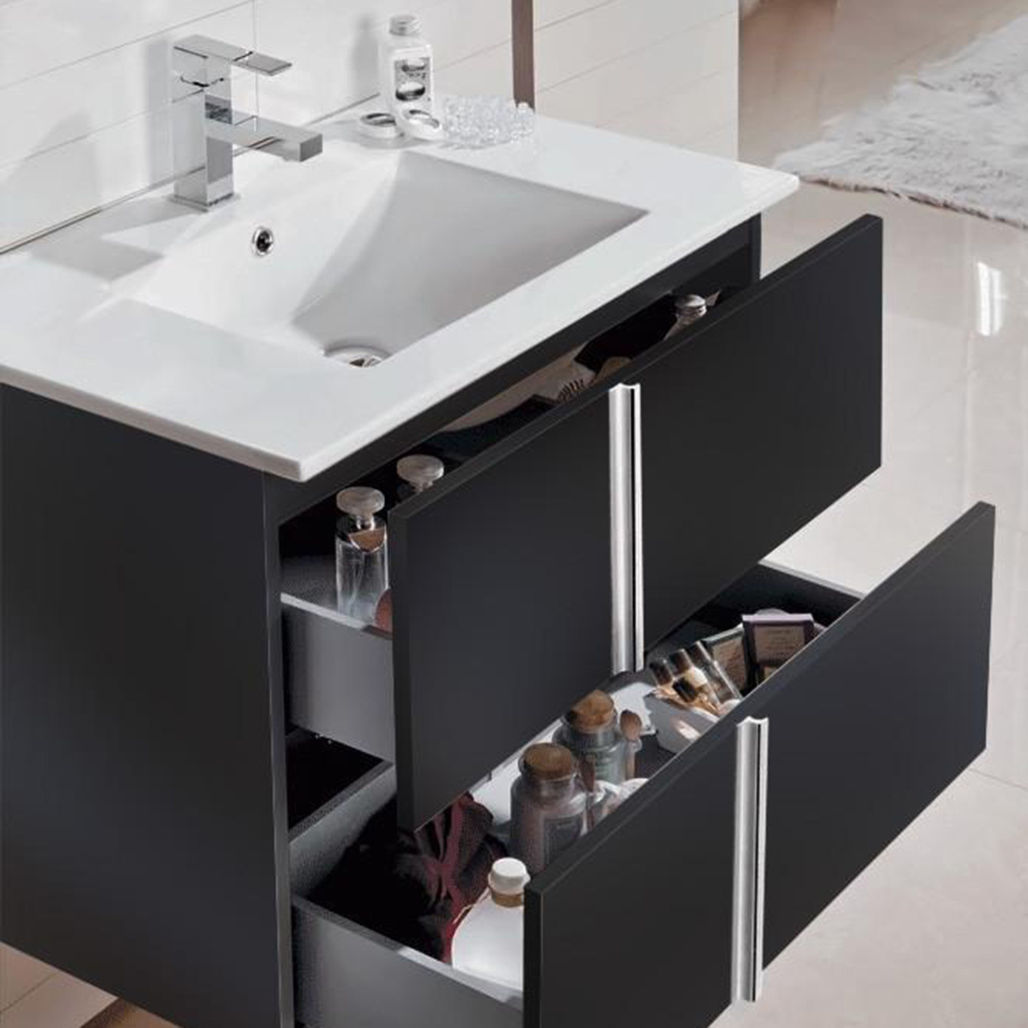 Royo Onix 24 Quot Wall Hung Vanity Cabinet 1 Hole Sink 2