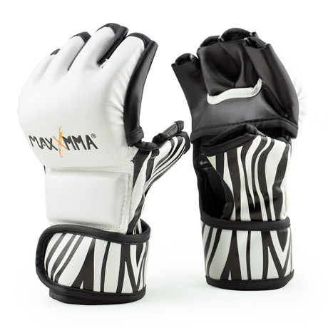 MMA Training Grappling Glove // Zebra Pattern