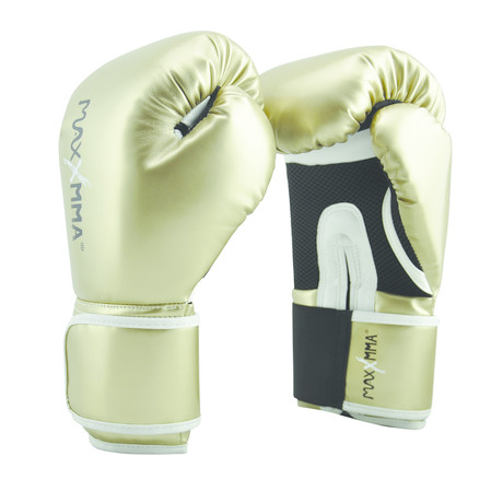 Pro Style Boxing Gloves (Gold // 12)