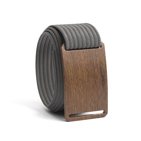 Craftsman // Walnut Buckle + Gray Belt