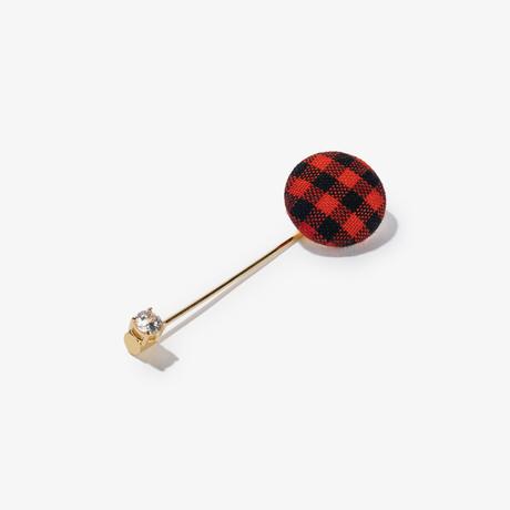 Chris Paul Collection Lapel Pin // Buffalo Plaid