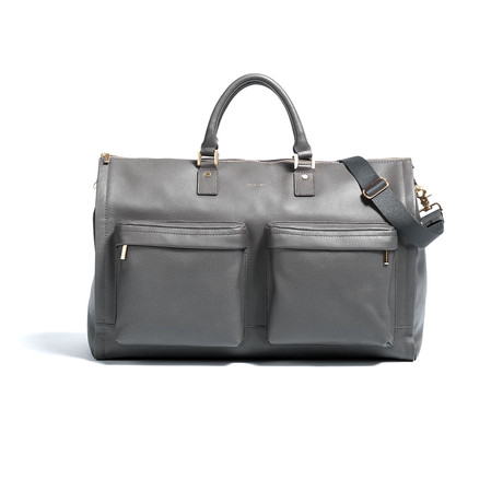 Chris Paul Collection Garment Weekender // Gray Leather + Gold