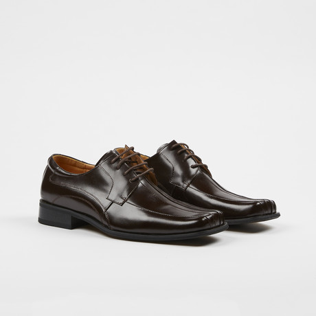 Leather Lace-Up Dress Shoes // Brown (US: 7)