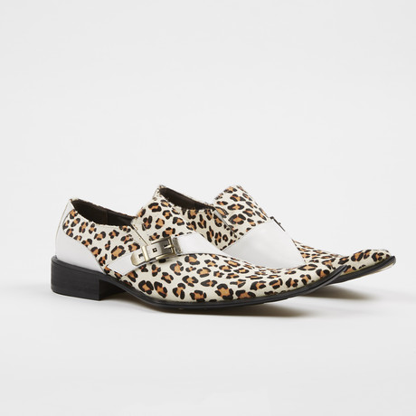 Leather Fashion Oxford Slip On Shoes // Leopard (US: 7)