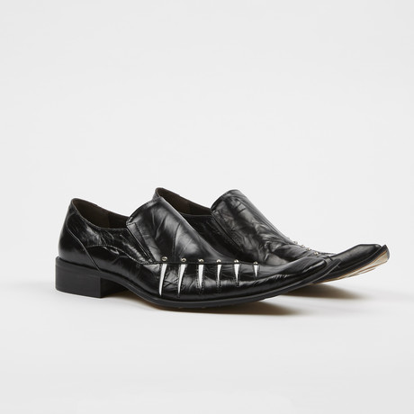Slip On High Fashion Square Toe Shoes // Black (US: 7)