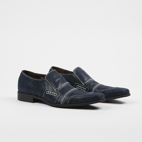 Textured Loafer // Navy (US: 6.5)
