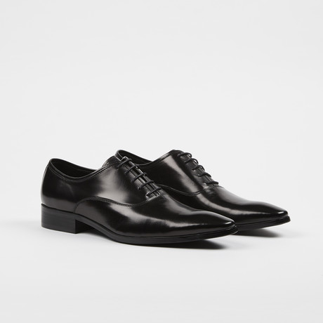 Pointy Toe Oxford Shoes // Black (US: 7)