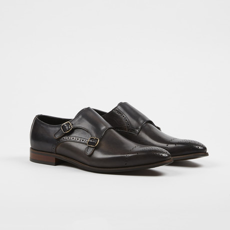 Monk Strap Slip On // Black (US: 6)