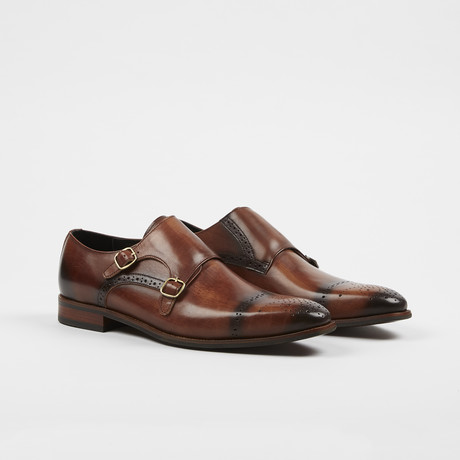 Monk Strap Slip On Brown (US: 7)