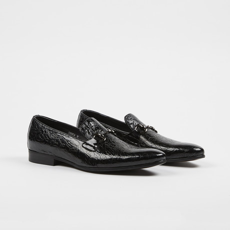 Slip-On Textured Shoes // Black (US: 7)