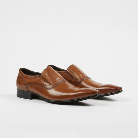 Leather Slip-On Pointed Loafer Shoes // Rusty (US: 7)