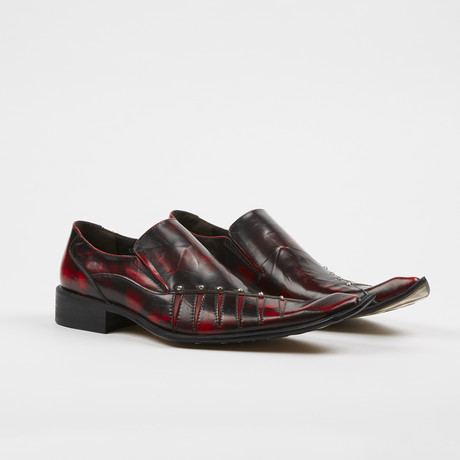 Slip On High Fashion Square Toe Shoes // Burgundy (US: 6)