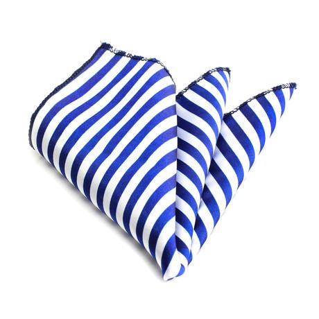 Handkerchief // White + Blue Lines
