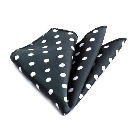 Handkerchief // Black + White Dots