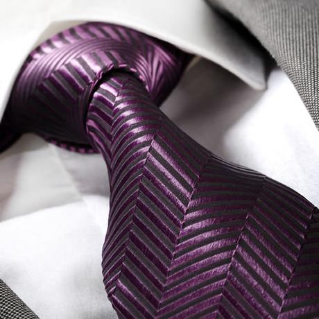 Tie // Solid Purple Lines