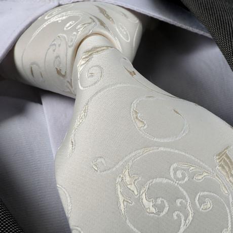 Tie // White Floral