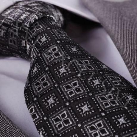 Silk Tie // Silver + Black