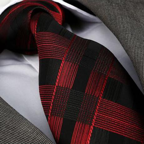 Tie // Red + Black Check