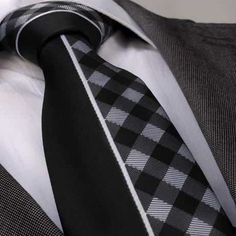 Tie // Black + White Plaid