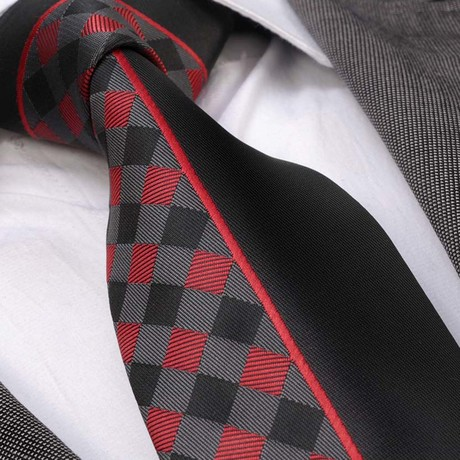 Tie // Black + Red Plaid
