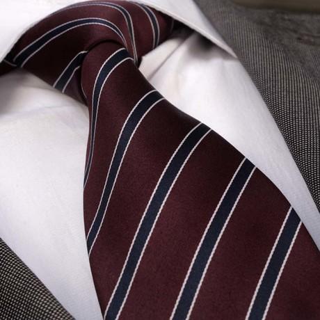 Tie // Maroon + Black Stripes