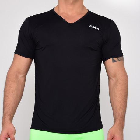 V-Neck T-Shirt Short Sleeve // Black (S)