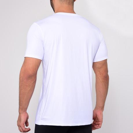 V-Neck T-Shirt Short Sleeve // White (S)