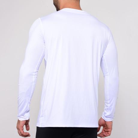 Round Neck Long Sleeve T-Shirt // White (S)