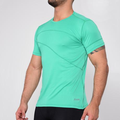 Round Neck Short Sleeve T-Shirt // Turquoise (S)