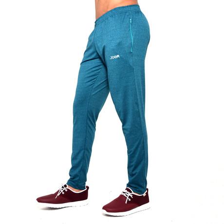 Sweatshirt With Zipper In Pocket // Turquoise (S)