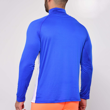 Fitted Long-Sleeve Turtleneck // Blue (S)