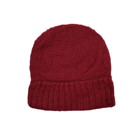 Knit Beanie // Cabernet