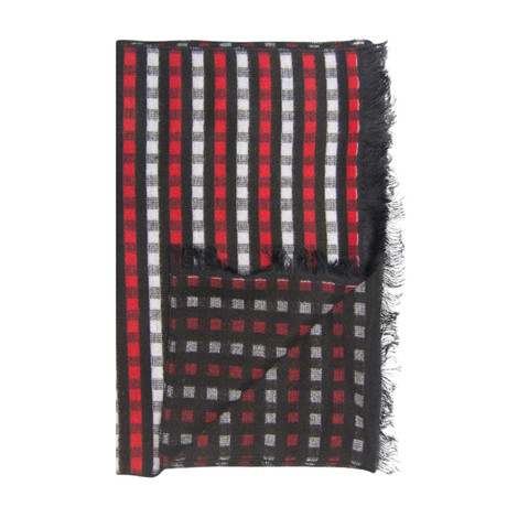 Gingham Scarf // Red
