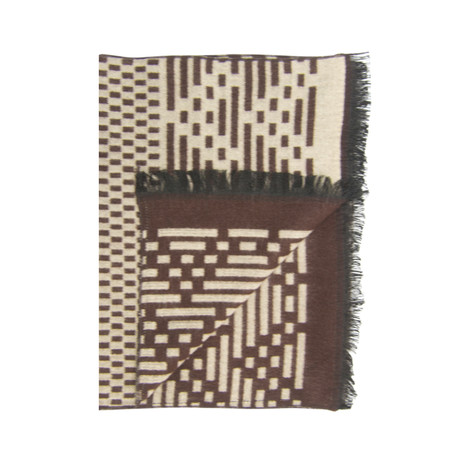 Code Scarf // Brown
