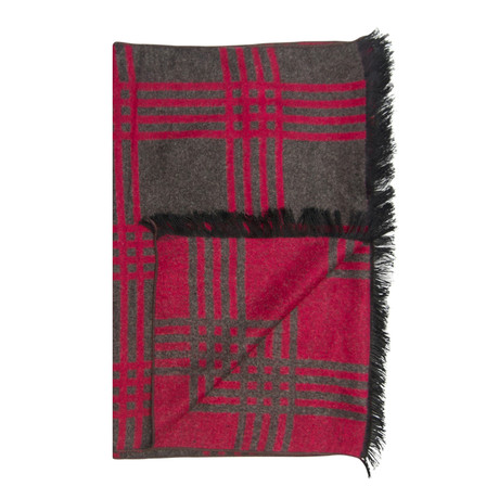 Roads Scarf // Red + Grey