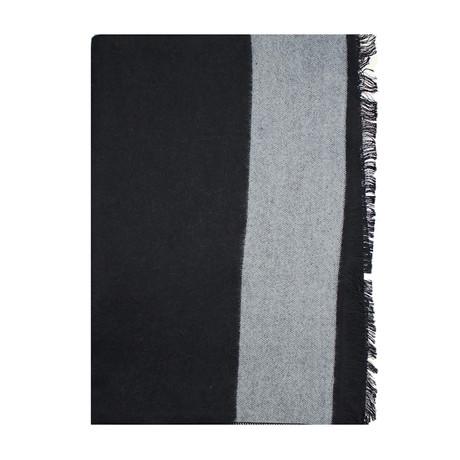 Trim Scarf // Solid Black + Grey
