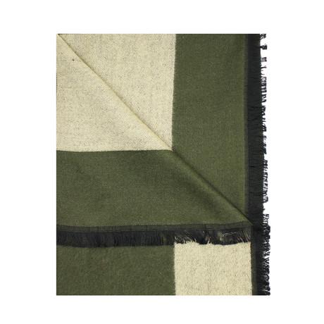 Trim Scarf // Solid Olive + Khaki